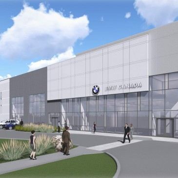 A new, 285,000 sf Distribution Centre for BMW Canada